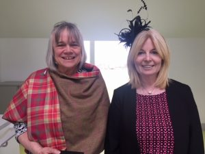 A photograph of Helen Houston and Beverley Hill of the Kyle of Sutherland Development Trust.