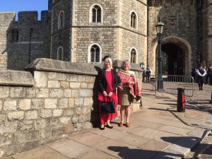 Helen and Beverley at Windsor Castle
