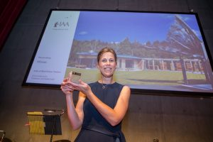Catriona Hill of CH Architecture at the Inverness Architectural Association Awards 2018